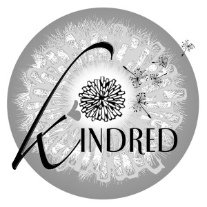 Kindred logo in black & white