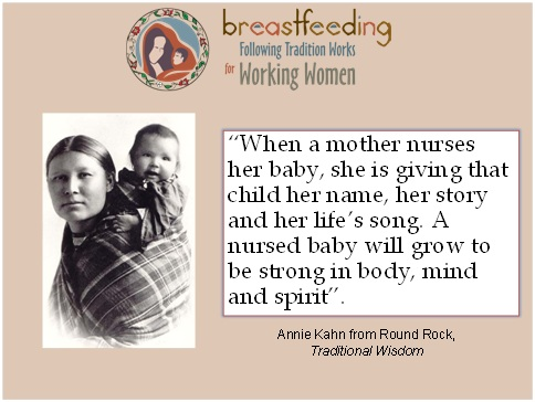 Tribal breastfeeding quote